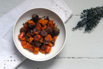 Ein leckeres Herbst-Essen: Die Kürbis-Maronen-Pfanne