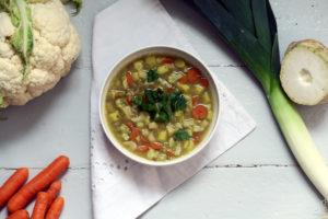 vegane und glutenfreie Linsensuppe
