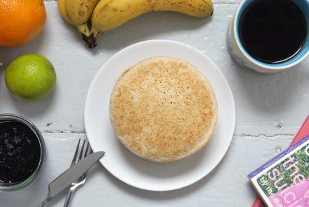 vegane Pancakes mit Reis- und Buchweizenmehl